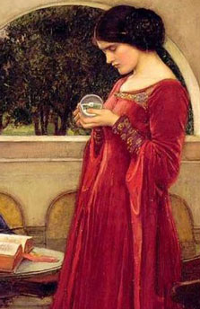 John-William-Waterhouse---The-Crystal-Balll